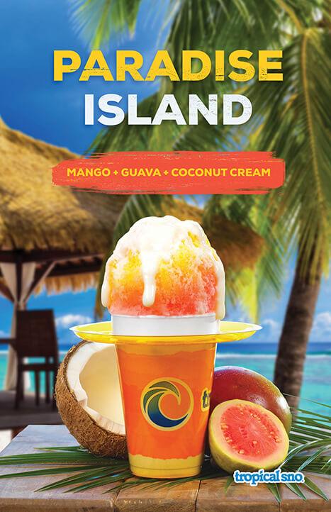 paradise island shaved ice