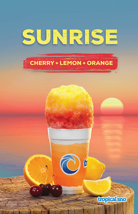 sunrise flavor shaved ice